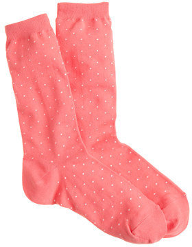 J.Crew Tiny-dot socks