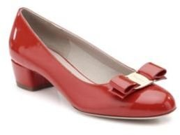 Salvatore Ferragamo Vara Patent Leather Pumps $550 thestylecure.com