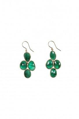 Elle + Cie Raw emerald chandelier earrings