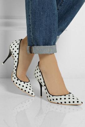 Webster Sophia Lola polka-dot leather pumps