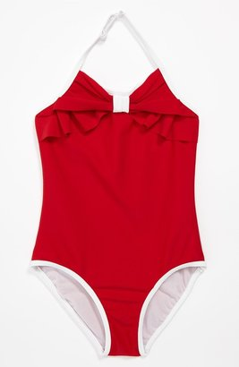 Kate Mack One Piece Swimsuit (Little Girls) Red 4