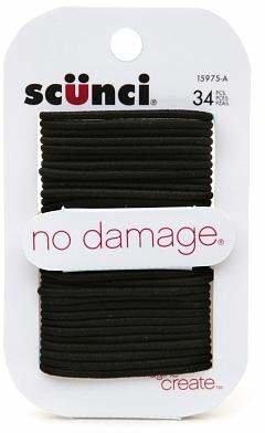 Scunci No Damage Hair Elastics Small Black