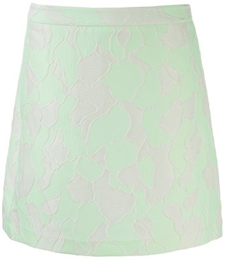 3.1 Phillip Lim abstract mini skirt