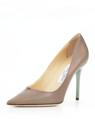 Jimmy Choo Abel Point-Toe Iridescent Pump, Multicolor