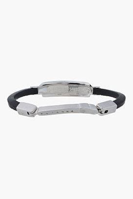 Maison Martin Margiela Black and silver watch crown bracelet