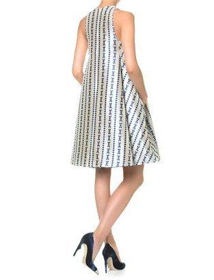 Temperley London Cobalt Jacquard Jewel Dress