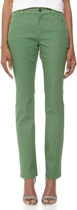 Lafayette 148 New York Bella Curvy Slim Jeans, Emerald