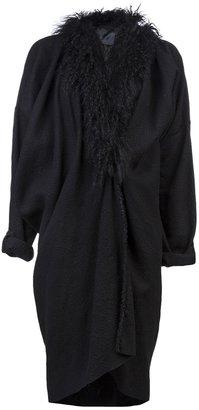 Lanvin Shag collar coat