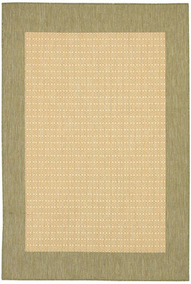 "Couristan Closeout! Area Rug, Recife Indoor/Outdoor 1005/5005 Checkered Field Natural-Green 2' 3"" x 11' 9"" Runner"