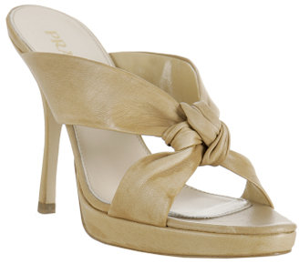 Prada natural leather knotted detail sandals