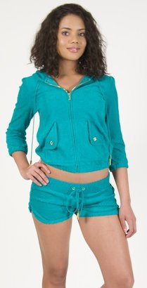 Juicy Couture Chevron Terry Hoodie in Green