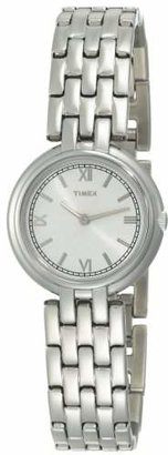 Timex Women's T2M937 Silver-Tone Analog Dress Stainless Steel Bracelet Watch $107.89 thestylecure.com