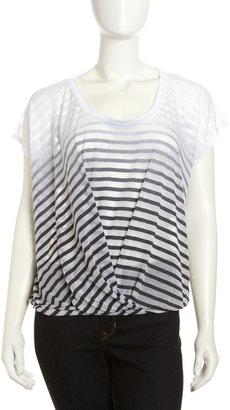 Young Fabulous & Broke Young Fabulous and Broke Ombre Striped Top, Black