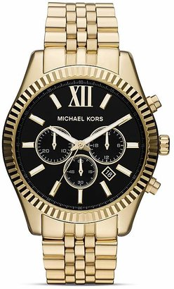 Michael Kors Men's Gold Tone Lexington Chronograph Watch, 45mm $275 thestylecure.com