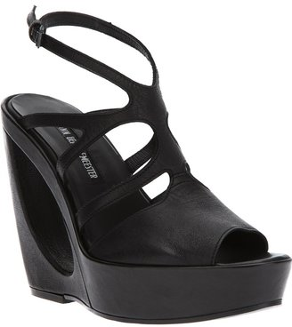 Ann Demeulemeester hollow wedge strappy sandal