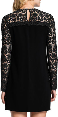 Cynthia Steffe Long-Sleeve Lace-Top Minidress