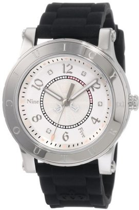 Juicy Couture Women's 1900832 HRH Black Jelly Strap Watch $99 thestylecure.com