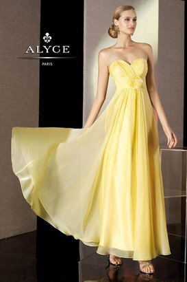 Alyce Paris B'Dazzle - 35500 Dress in Lemon Yellow $198 thestylecure.com