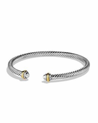 David Yurman Cable Classics Bracelet with Gold $395 thestylecure.com