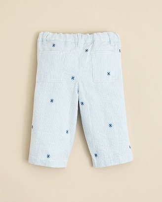 Hartstrings Kitestrings by Infant Boys' Embroidered Seersucker Pants - Sizes 0-12 Months