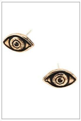Pamela Love Oculus Earrings in Bronze