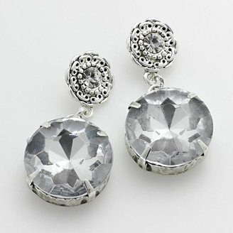 Candies Candie's® silver-tone simulated crystal drop earrings