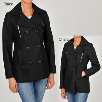 Esprit Women's Double-breasted Wool-blend Pea Coat $94.99 thestylecure.com