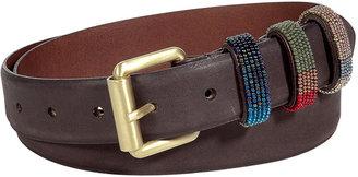 Marc Jacobs Dark Brown Leather Belt