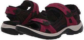 ECCO Sport Yucatan Sandal (Black/ Mole/ Black) Women's Sandals