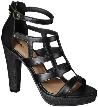 Mossimo Women's Perl Cage High Heel Sandals - Black