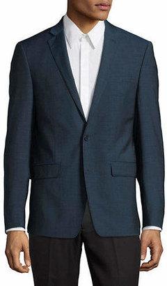 Calvin Klein Slim-Fit Notch Lapel Wool Sports Jacket