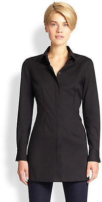 Saks Fifth Avenue Collection Pleated-Back Shirt