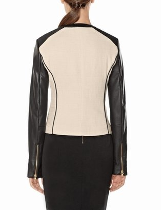 The Limited Faux Leather Sleeve Jacket
