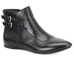 "Børn Clarissa"" Flat Ankle Boot - Black"