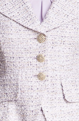 St. John Fitted Tweed Jacket