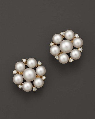 Bloomingdale's Cultured Freshwater Pearl Cluster Earrings in 14K Yellow Gold, 5mm