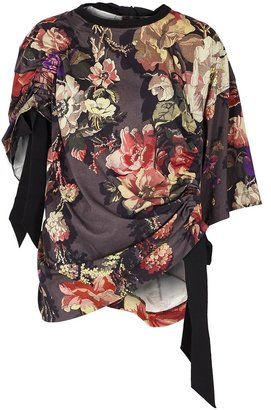 Dries Van Noten Hokir Asymmetric Floral-print Cotton Top