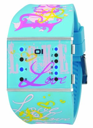 01 The One 01TheOne Women's SLSL136B3 Slim Square Classic LED Watch