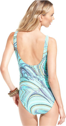 Jantzen Swimsuit, Printed Hardware One-Piece