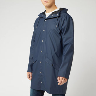 Rains Long Jacket - Blue - XS-S