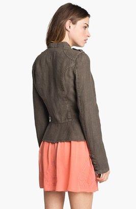 Sanctuary Linen Peplum Jacket Large