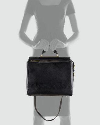 3.1 Phillip Lim Ryder Calf Hair Crossbody Satchel Bag, Black