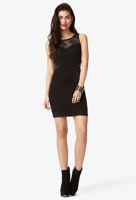 Forever 21 Lace Trim Bodycon Dress