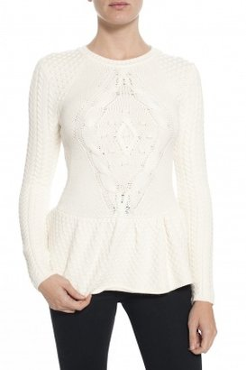 Torn By Ronny Kobo Layla Sweater Ivory