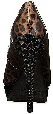 PeepToe 9 & Co.® Drama Leopard-Print Peep-Toe Pumps