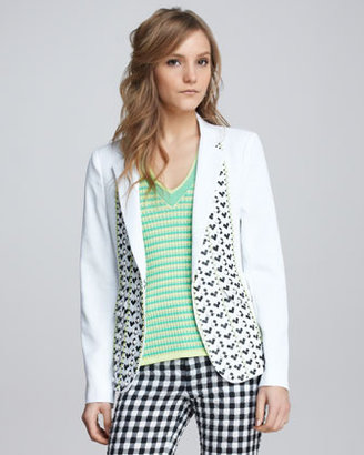 Nanette Lepore Sweet Connection Embroidered Blazer