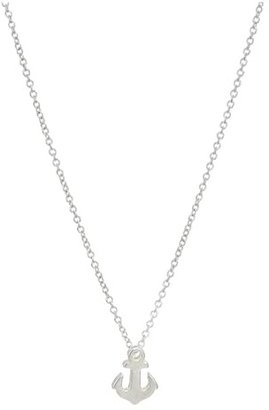Dogeared Friendship Anchor Reminder Necklace (Sterling Silver) Necklace