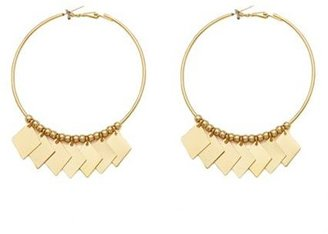 Charlotte Russe Dangling Panel Hoop Earrings