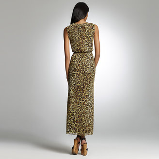 Jones New York Cheetah Print Maxi Dress