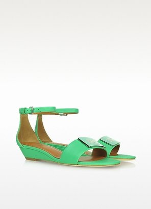 Marc by Marc Jacobs Mint Green Leather Wedge Sandals
